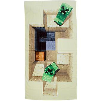 Minecraft Creeper Defeat Towel Beach Towels