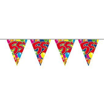 Wimpelkette 10m Zahl 55 Jahre Geburtstag Deko Party Girlande