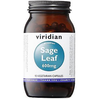 Viridian سيج ورقه استخراج 600mg قبعات الخضروات 90 (859)