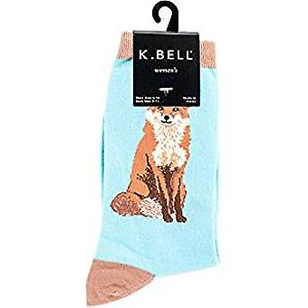 Chaussettes d'équipage femmes - K Bell - Foxy Sox Blue Radiance