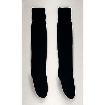 Jeffries sokker navy blå knæ høj stretch Dame