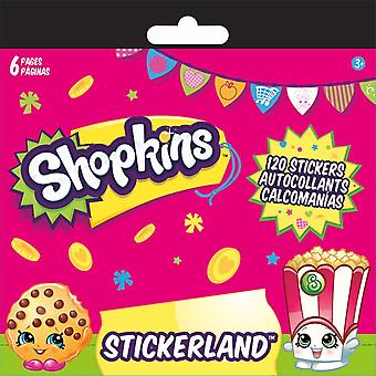 Mini Stickerland Pad - Shopkins - 6 pages Toys Stationery New st2325