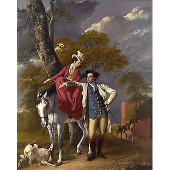 Mr.and Mrs.Thomas Coltman,Joseph Wright,50x40cm