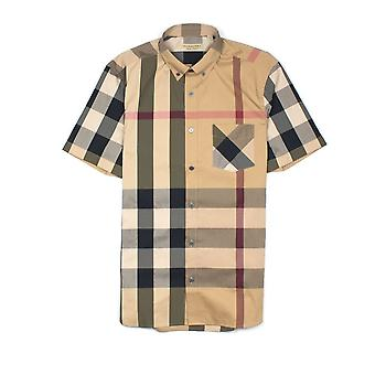 Burberry Short Sleeve Check Shirt Camel (Burberry Short Sleeve Check Shirt Camel)