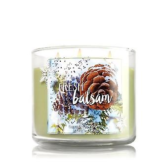 Bath & Body Works Fresh Balsam 3 Wick Scented Candle (Pack of 2)