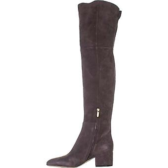 Sergio Rossi Womens Virginia Suede Suede Closed Toe Over Knee Fashion Boots