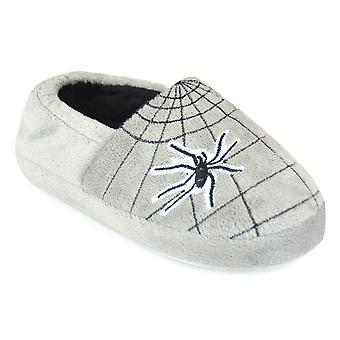 SlumberzzZ Jungen Neuheit Spider & Web Design Slip auf Hausschuhe