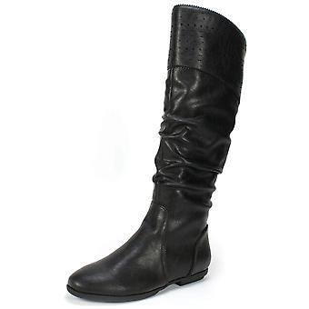 Zeven wijzerplaten Womens Dillon gesloten teen mid-kalf Fashion Boots