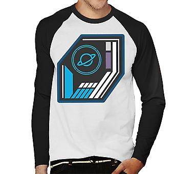 The Crystal Maze Basic Planet Badge Men's Baseball Long Sleeved T-Shirt