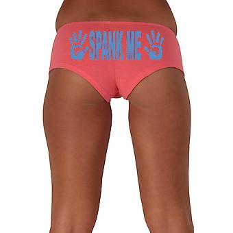 Mujeres's divertido botín pantalones cortos Spank Me bloque azul tipo de estilo audaz