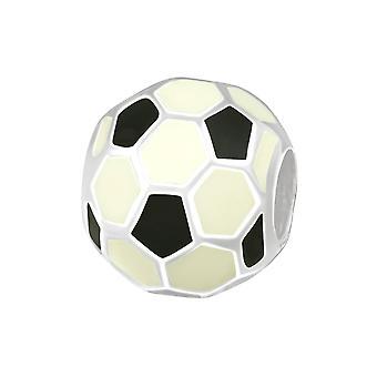 Fußball - 925 Sterling Silber Plain Beads - W11048X