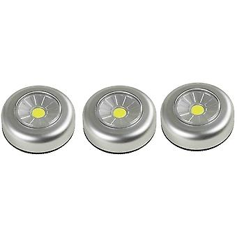 3X Arcas Push Light COB LED + 9X AAA Batterien