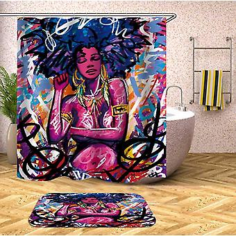 Crazy Colors African Beauty Shower Curtain