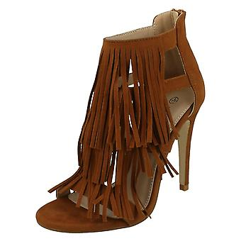 Ladies Anne Michelle Peep Toe Tassle Heels