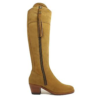 Fairfax & Favor The Heeled Regina Tan Suede Leather Tall Boot