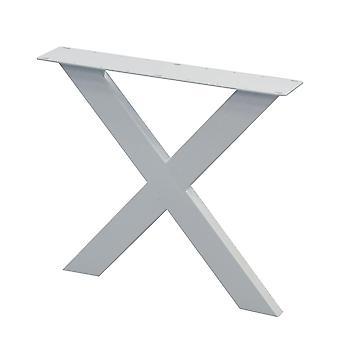 White X table leg 72 cm (tube 10 x 4)