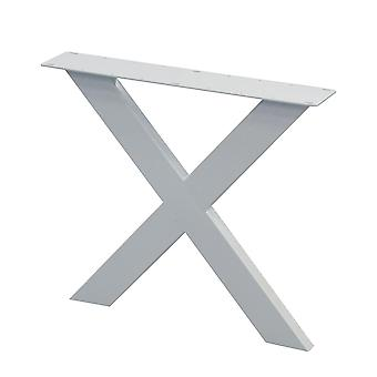 Witte X tafelpoot 72 cm (koker 10 x 4) (1 stuk)