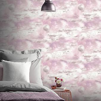 Cieli acquosi Cloud Wallpaper Rosa Arthouse 692501