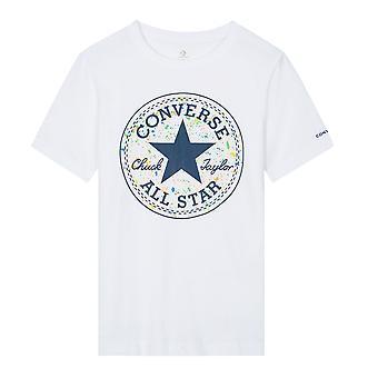 Converse Chuck Taylor Splatter Logo Kids T-Shirt Shirt Tee White