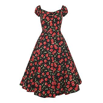 Collectif Vintage Women's 1950's Dolores Doll Dress Cherry Polka Dot