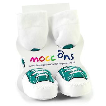 MoccOns - Moccasin Style Slipper Socks! - 12-18m
