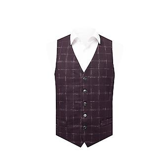 Dobell menns vin Tweed vest regelmessig Fit vindusrute sjekk