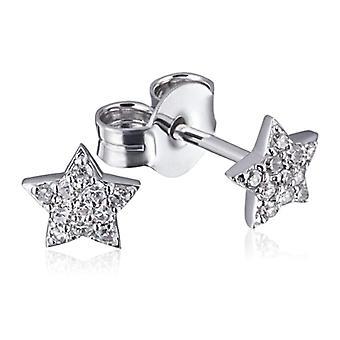 Goldmaid - Women's earrings in white gold and diamonds