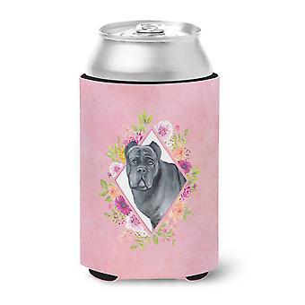 Carolines Treasures  CK4125CC Cane Corso Pink Flowers Can or Bottle Hugger