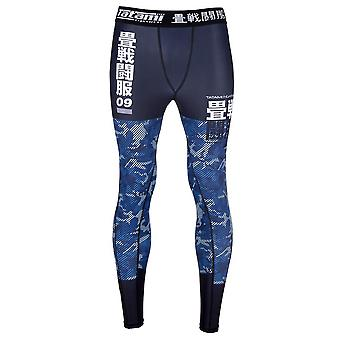畳 Fightwear 子供不可欠な迷彩スパッツ ブラック/ブルー