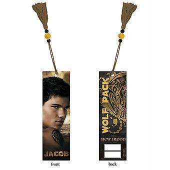 Twilight New Moon bookmark Jacob made of plastic, with tassel, comes in transparent case