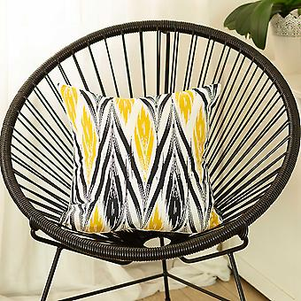 Black and  Yellow Zig Zag Decorative Throw Pillow Cover