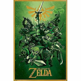 La Légende de Zelda, Affiche Maxi - Multiple Link