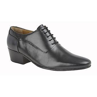 Kensington Mens Plain Vamp Cuban Heel Leather Shoes