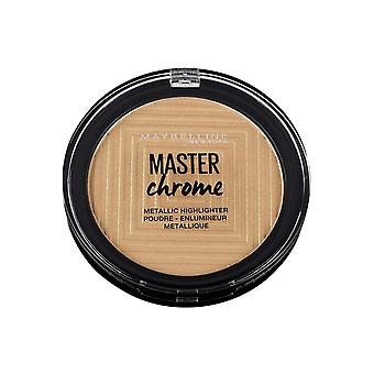Maybelline Master Chrome Metal Highlighter Poudre Enlumineur 9g Molten Gold #100