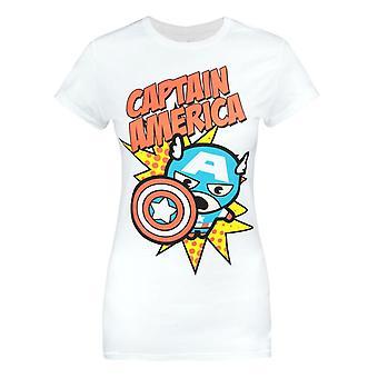 Jack Of All Trades Marvel Kawaii Captain America Women's T-Shirt