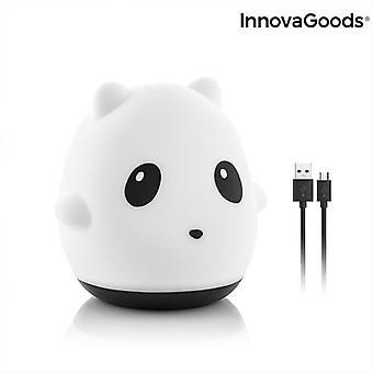 Genopladelig Silikone Lampe Panda