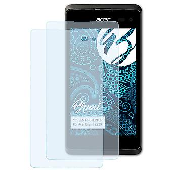 Bruni 2x Screen Protector compatible with Acer Liquid Z220 Protective Film