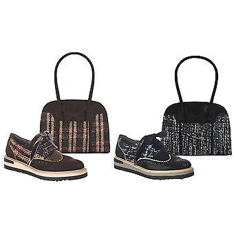 Ruby Shoo Mujeres's Davina Encaje Zapatos de Mocasin & Matching Kobe Bag