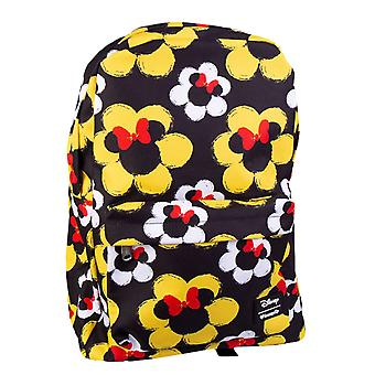 Mickey Mouse Minnie Flower Print Backpack