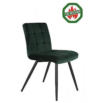 Light & Living Dining Chair 57x49x84cm Olive Fr Velvet Dark Green