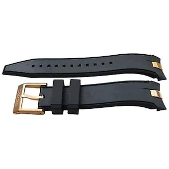 Authentic seiko watch strap 20mm rubber - black r02n117p0