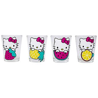 Hello Kitty 4-Pack Shot Glass Set