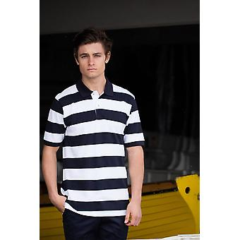 Front row striped piqué polo shirt fr210