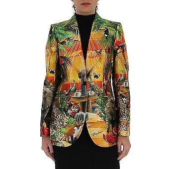 Dolce E Gabbana F29dotgdu83hh1vw Women's Multicolor Cotton Blazer