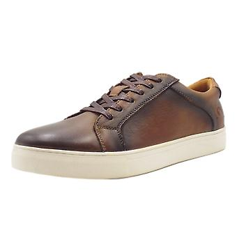 Chatham Marine Jetty Mens Smart-casual Leather Trainers In Brown