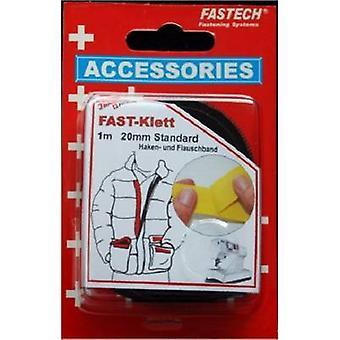 FASTECH® 680-330C Hook-and-loop tape sew-on Hook and loop pad (L x W) 1000 mm x 20 mm Black 1 Pair