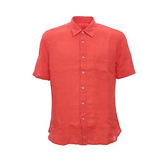 120% P0m13680000115001p010 Men's Light Blu/green Linen Shirt