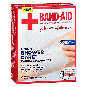 Band-aid shower care bandage protector, medium, 4 inch x 5 inch, 4 ea