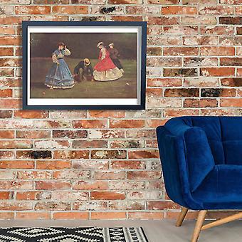 Winslow Homer - Croquet cartel impresión Giclee