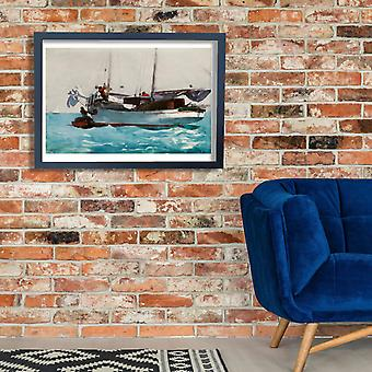 Winslow Homer - aking on Wet Provisions Poster Print Giclee